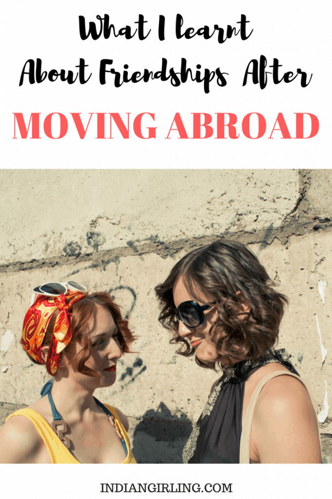 Friendships After Moving Abroad Pinterest Image