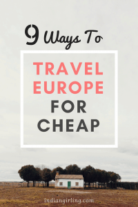 Travel Europe for Cheap