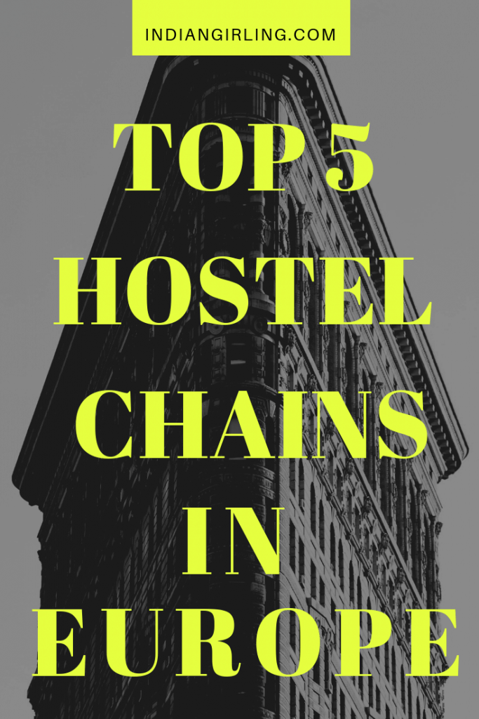 Hostels in Europe Pinterest Image