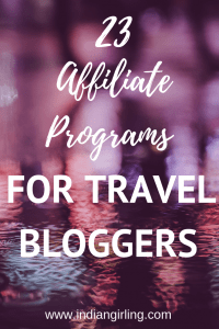 Affiliate Programs Travel Blog Pinterest Image