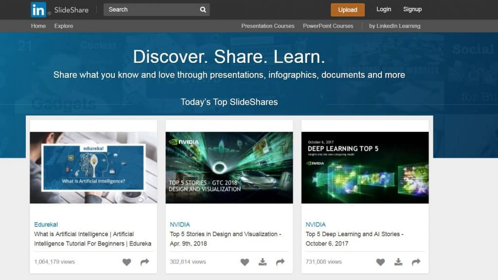 Slideshare Screenshot
