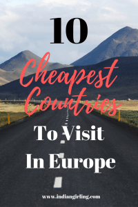 Cheapest Countries To Visit In Europe Pinterest Image