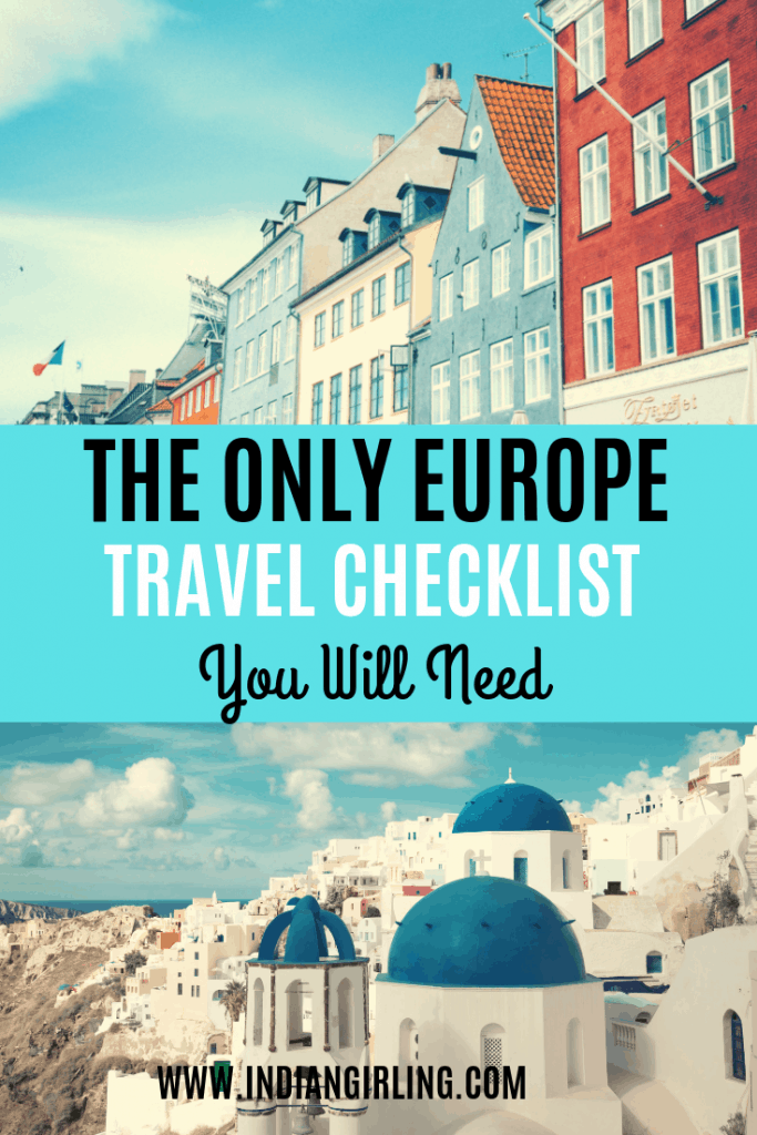 Europe Travel Checklist