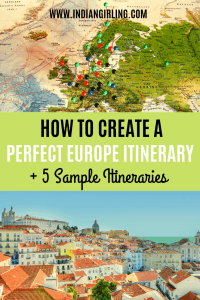 Europe Trip itinerary pinterest image