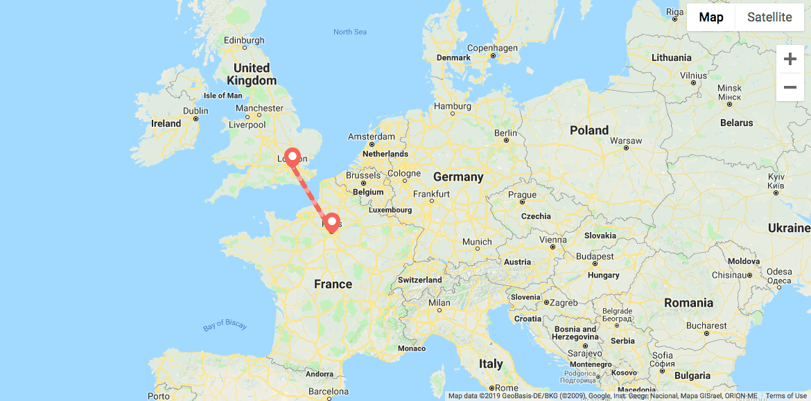London to Paris itinerary