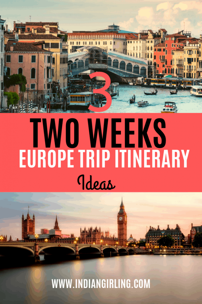Two Week Europe Itinerary Pinterest Image