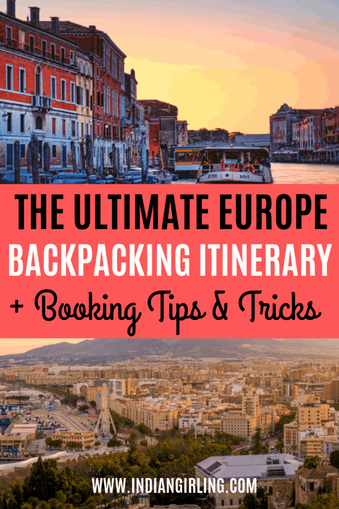 Backpacking Europe Route Pinterest Image