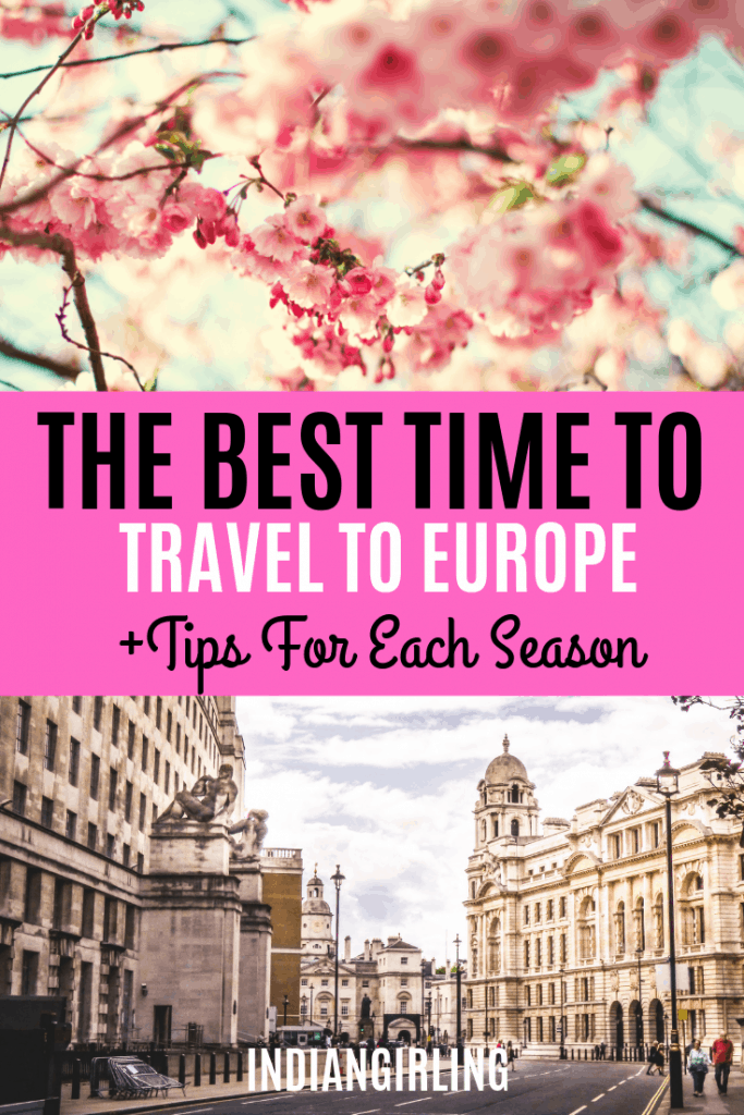 Best time to travel to europe pinterest image