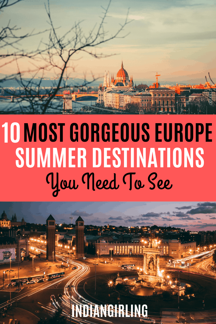 Europe summer destinations pinterest image