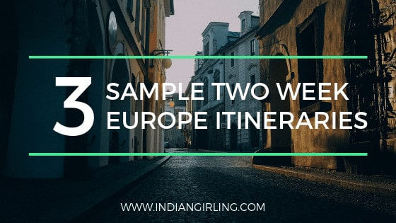 Two week europe itinerary ideas