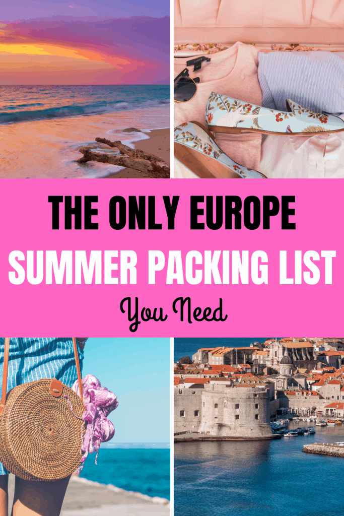 Europe packing list pinterest image