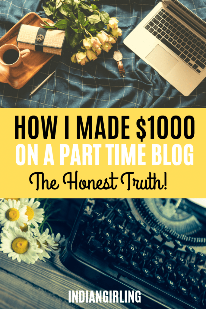 blog income report - how i made my first $1000 on a part time travel blog