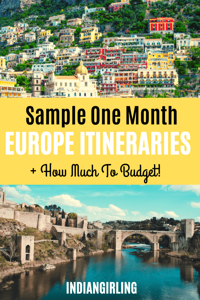 Europe itineraries 4 weeks