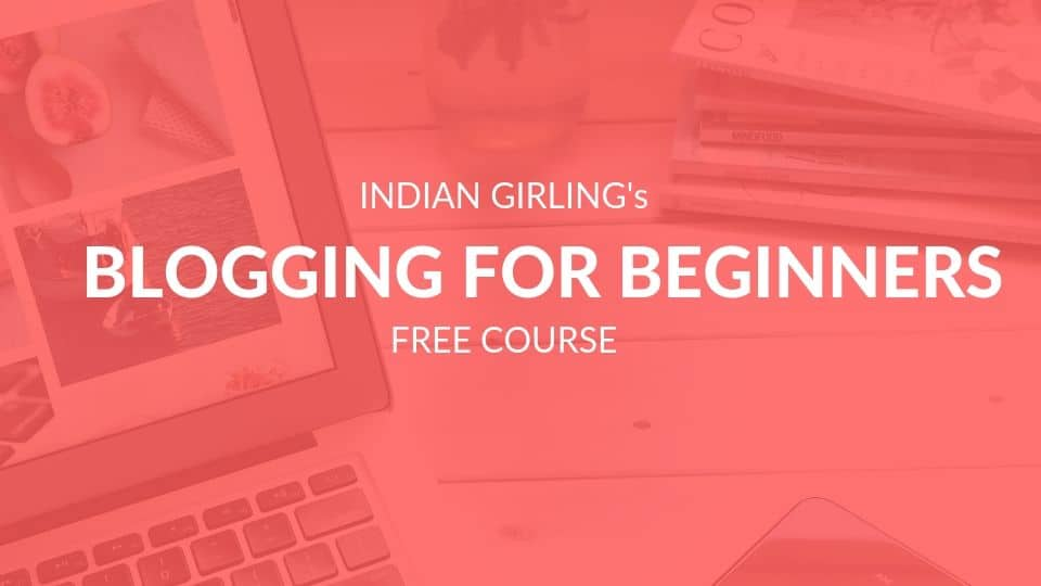 Blogging for beginners free course