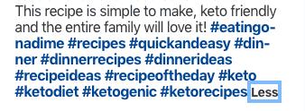 Pinterest Hashtags screenshot