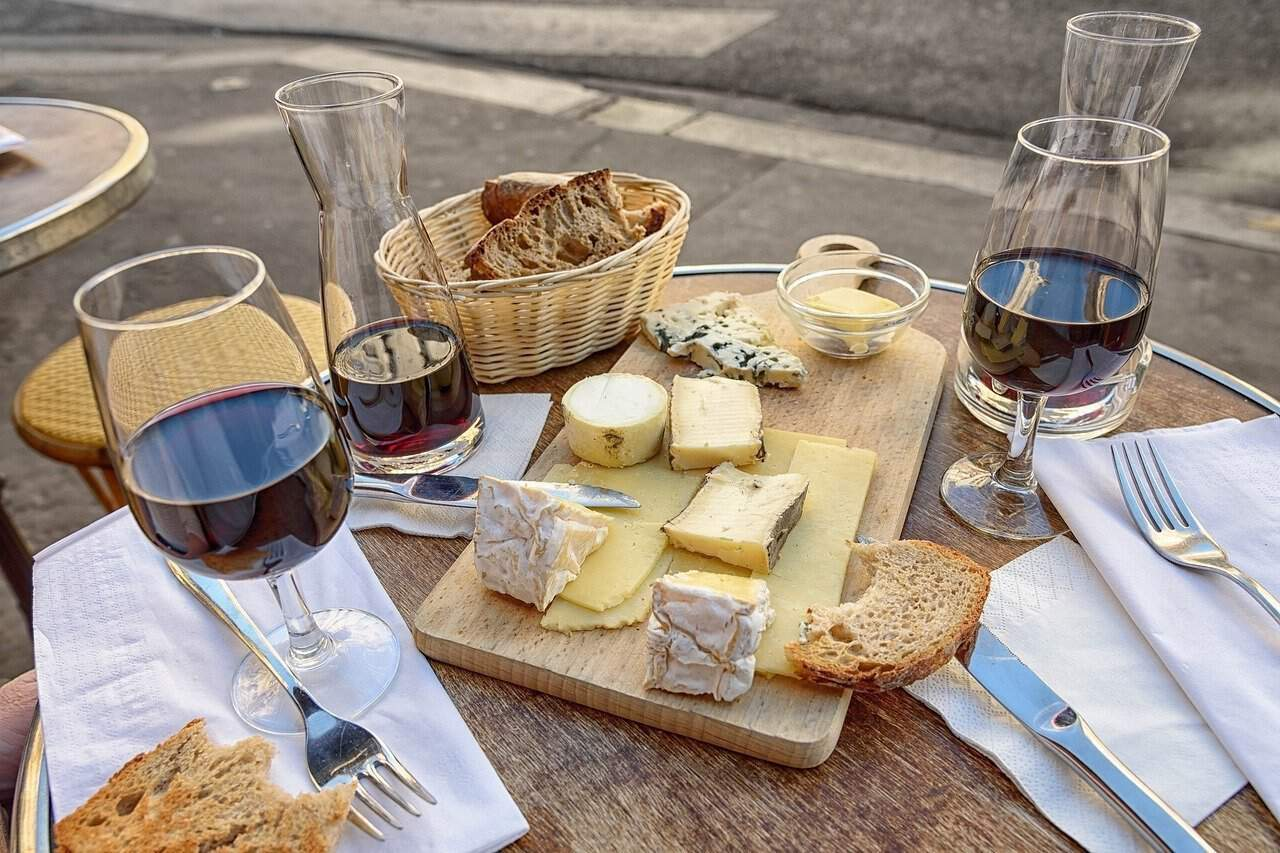 cheese and wine tasting