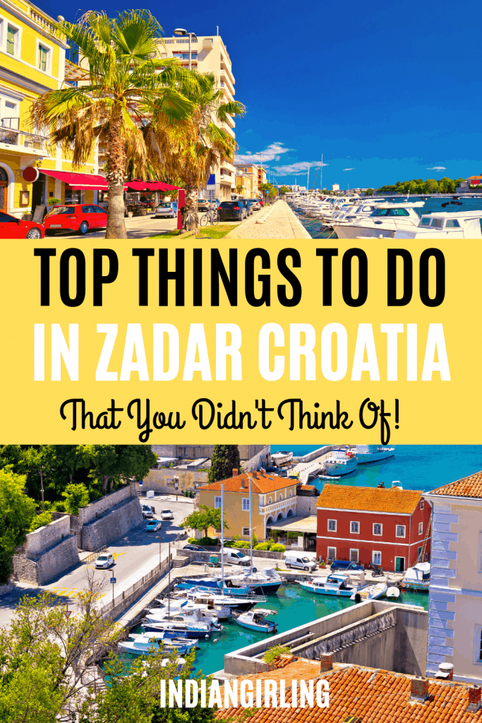 Things to do in Zadar Pinterest image