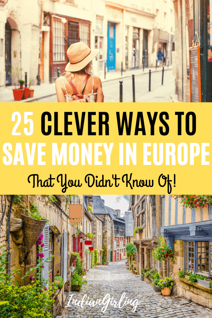 25 Clever ways to save money in europe: Pinterest Image