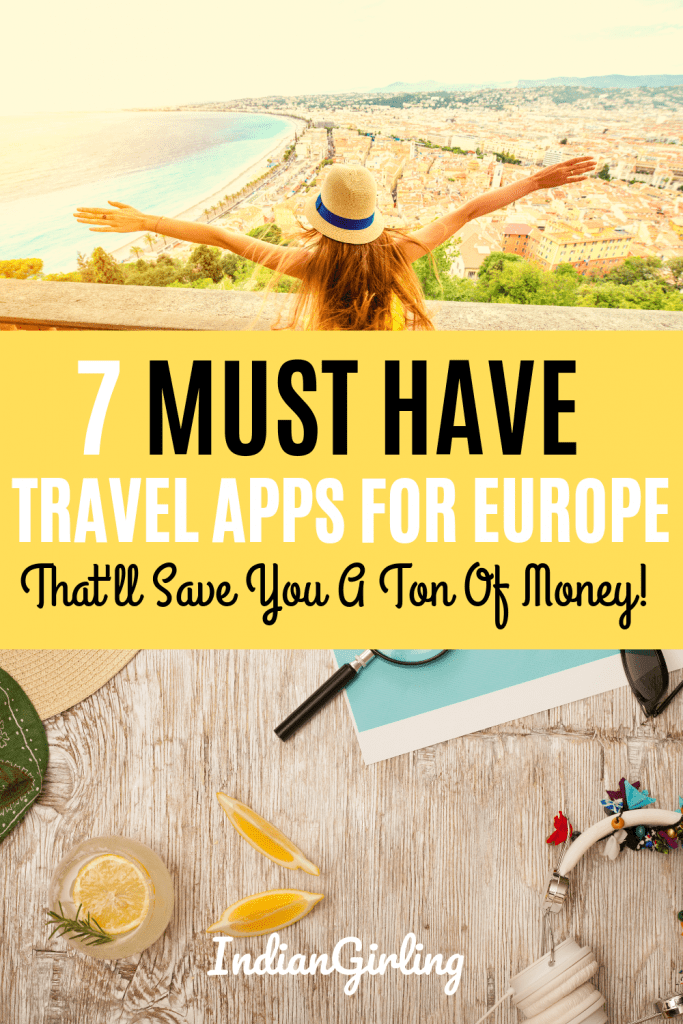 Travel Apps For Europe: Pinterest Image