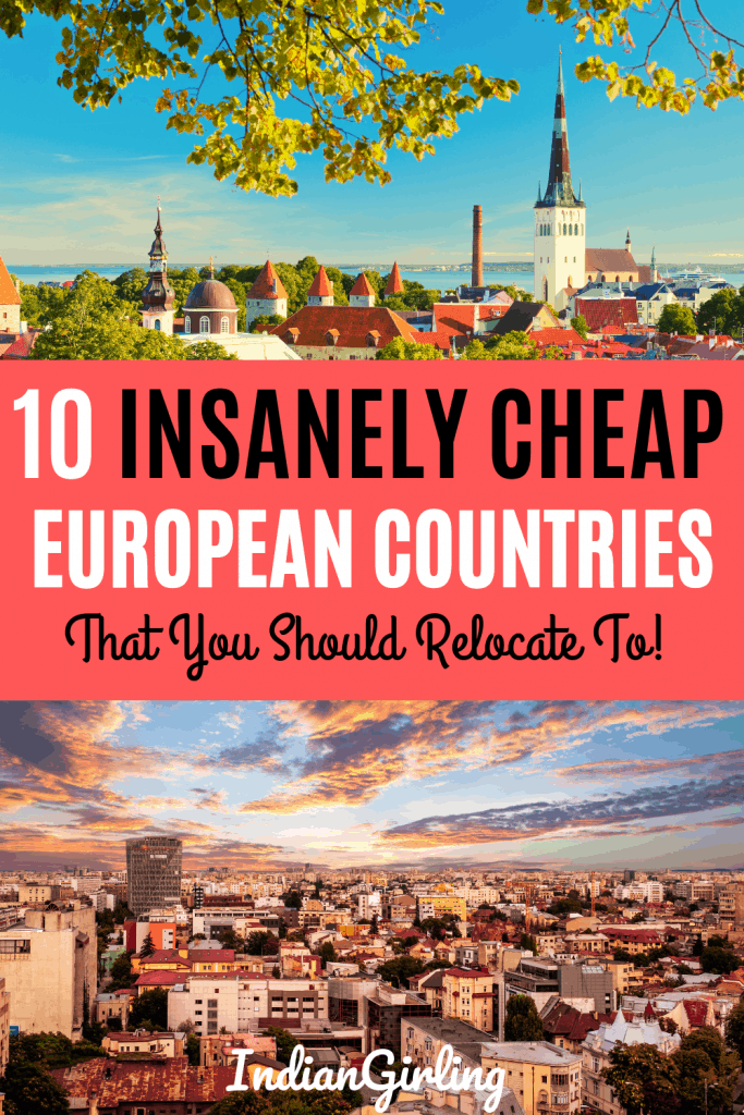 cheapest places to in Europe to live : Pinterest image