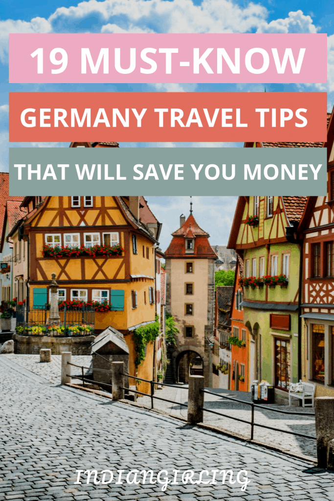 top germany travel tips that will help you save money and time while traveling in Germany: Pinterest image