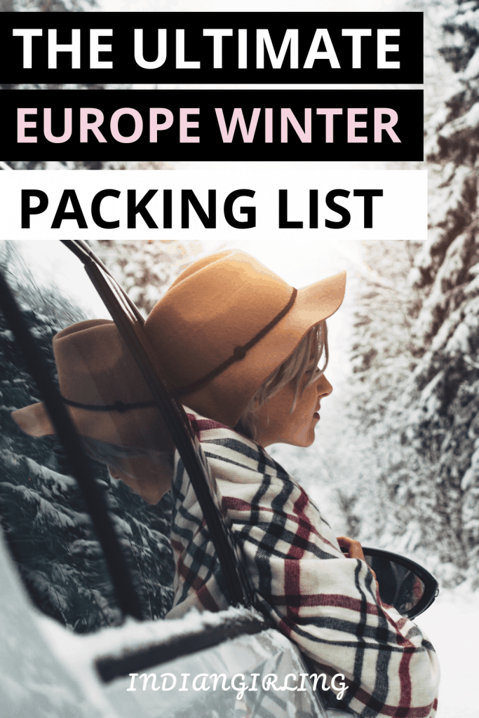 Europe winter packing list, europe winter packing list carry on, europe winter must have essentials.
