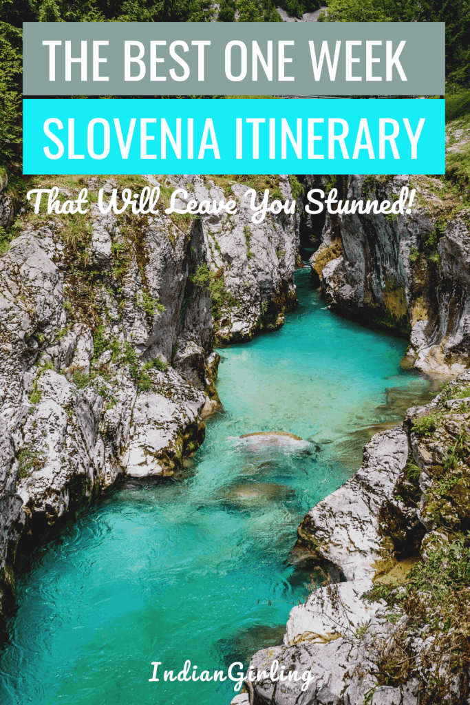 one week slovenia itinerary : pinterest image